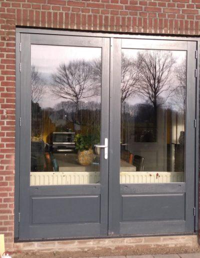 Dubbele deur hout vervangen