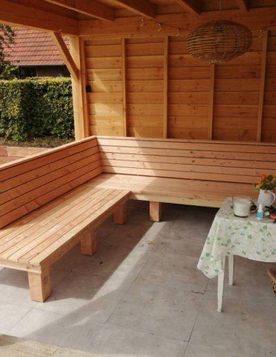 Loungebank maatwerk veranda hout